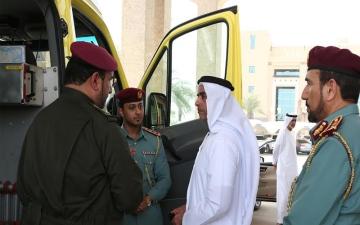 """سيف بن زايد يطّلع على تقنية جديدة لمركبات """"دفاع مدني أبوظبي"""""""