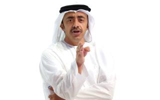 الصورة: عبدالله بن زايد يطلق مسح  رفاهية وتنمية الشباب