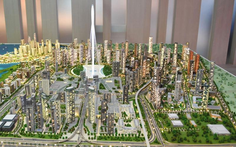 «إعمار» تنتهي من وضع أساسات مشروع البرج في «خور دبي»