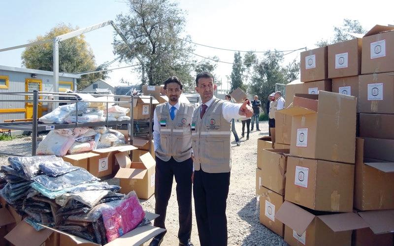مساعدات عاجلة من «سلطان بن خليفة الإنسانية» للاجئين في ليسبوس اليونانية