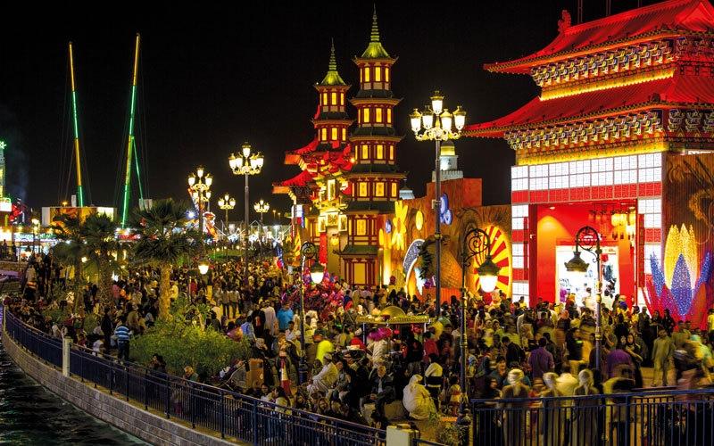 جناح الصين في القرية العالمية.. رحلة برفقة «التنين» والينابيع المدهشة