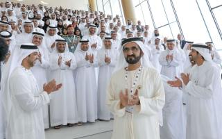 الصورة: محمد بن راشد: نجاح الحكـومات يقاس بالإنجازات والقدرة على تحقيق الأهـداف