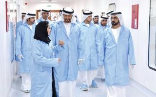 محمد بن راشد ومحمد بن زايد  يطلقان برنامج «الإمارات الوطـني للفضاء»