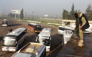 بدء عملية تهجير 4 مناطق سورية محاصرة