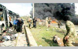 61 قتيلاً بتفجير استهدف «مهجّري المدن الأربع» قرب حلب