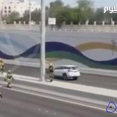 بالفيديو..شرطة أبوظبي تغلق طريقاً سريعاً لإنقاذ قطة صغيرة