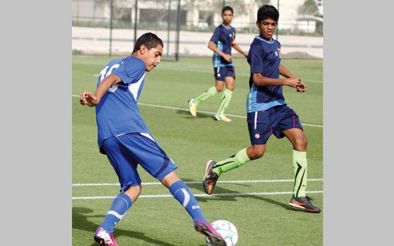 فريق النصر للصغار يستعد للمشاركة في البطولة. من المصدر