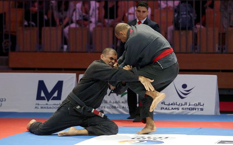 من منافسات اليوم الثالث في بطولة أبوظبي العالمية. تصوير:إيريك أرازاس