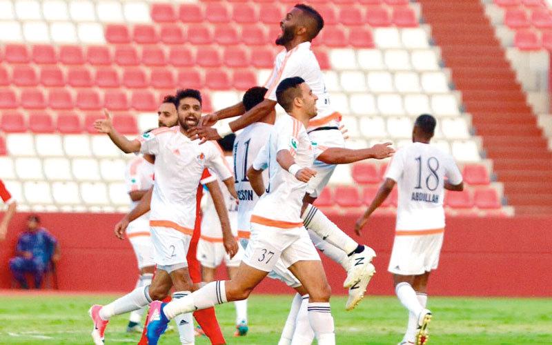 عجمان ضمن التأهل إلى دوري الخليج العربي. من المصدر
