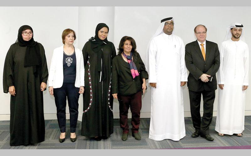 لجنة تحكيم الجائزة ضمت هذا العام أمينة ذيبان وناصر عراق وصالحة عبيد وفاطمة الزعبي. تصوير: إريك أرازاس