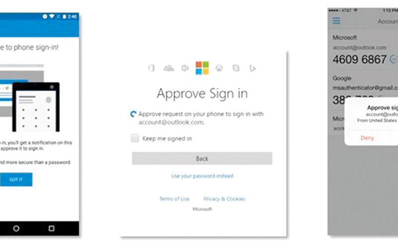 «مايكروسوفت» تطلق «تسجيل الدخول دون كلمة مرور» - الإمارات اليوم