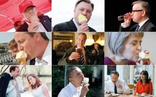 سياسيون يتناولون الطعام أمام الناس للتقرب من الناخبين