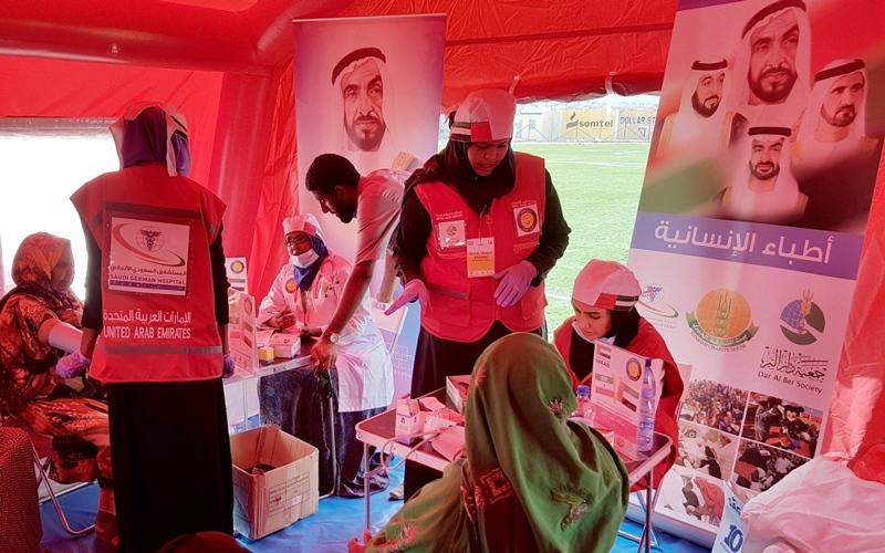 مستشفى الإمارات المتحرك يعالج الأطفال والمسنّين في الصومال