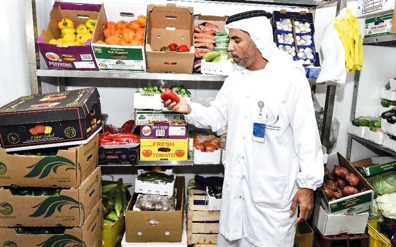 حملة مسائية على المنشآت الغذائية والحيوانية والزراعية في أبوظبي