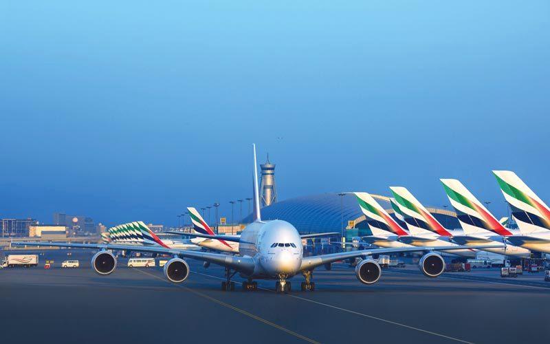 «طيران الإمارات» تسلمت 35 طائرة جديدة وهو أكبر عدد من الطائرات ينضم إلى الأسطول خلال سنة مالية. أرشيفية
