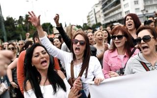 الصورة: الإضرابات  العمالية  تشلُّ الحياة في اليونان
