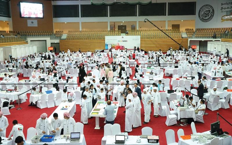 1200 طالب يتنافسون في «أولمبياد الروبوت الوطنية»
