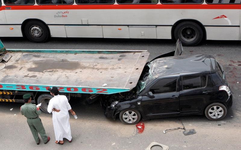 37 وفاة و492 إصابة جراء حوادث مرورية  في دبي خلال الربع الأول