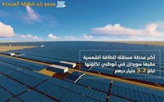 """هزاع بن زايد يعلن إطلاق مسمى """"نور أبوظبي"""" على أكبر محطة للطاقة الشمسية في العالم"""